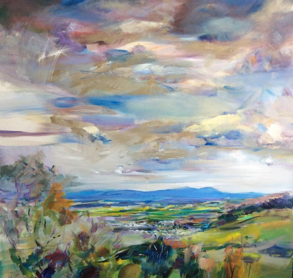 Cleeve Hill., acrylic on canvas