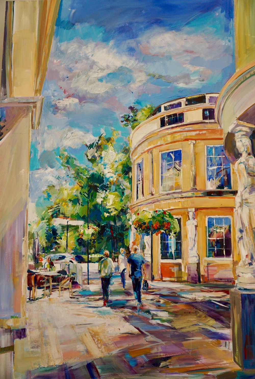 Montpellier Corner, acrylic on canvas