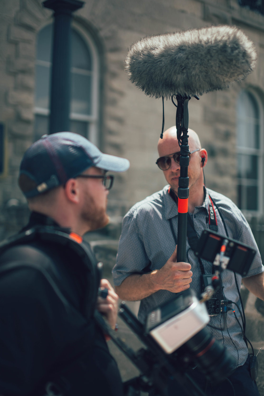 Audio and Sound Mixing - Our audio operators and sound mixers can handle any situation, whether you're speaking in a large echoing room or outside on a windy day. We'll bring all the gear you need to make sure everyone who's speaking sounds clear and true.