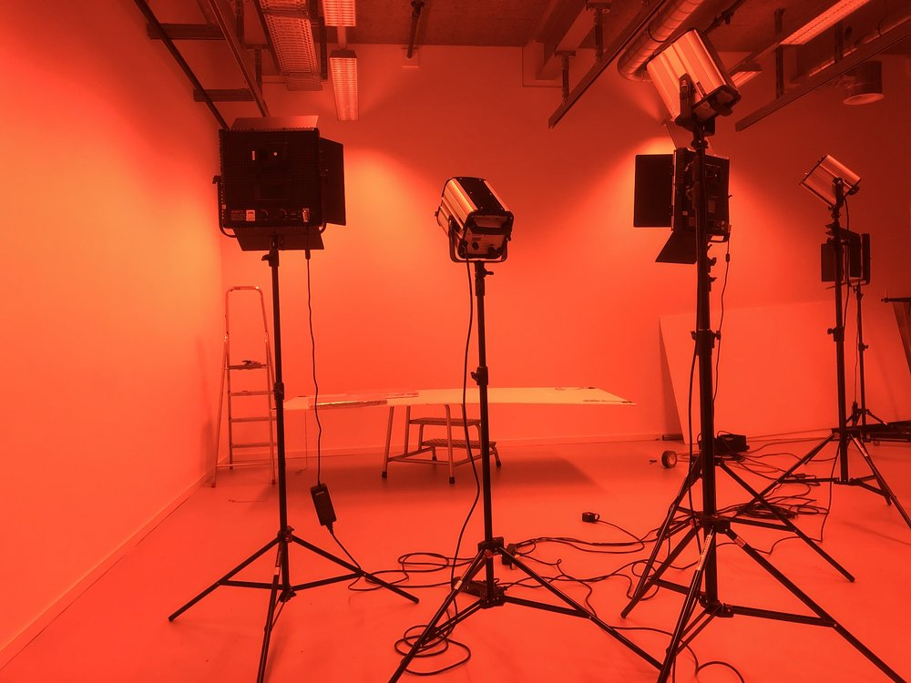 Lighting - This can make or break a video. Our expert touch will give you the lighting you're looking for. We can handle any situation and location, from the great outdoors to a cozy chat-like setting in a studio or conference room.