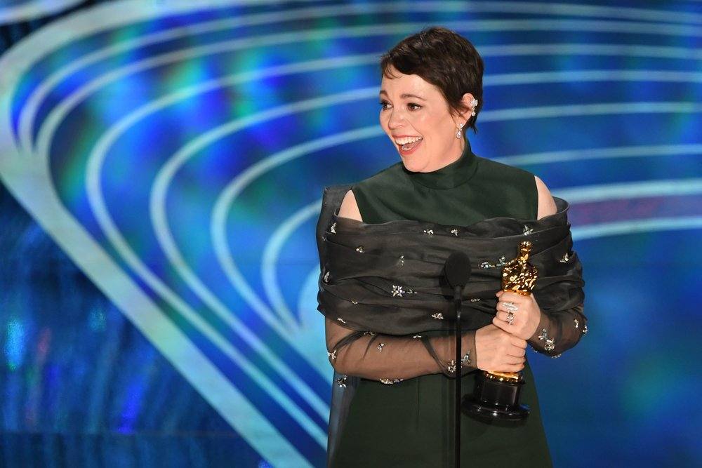 """Harper's Bazaar - Olivia Colman delivers moving Oscars speech: """"This is hilarious!"""""""