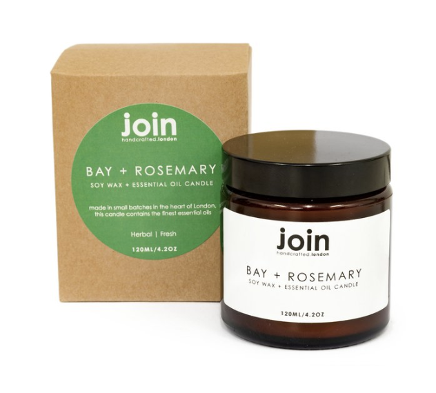 Bay + Rosemary - Join Luxury Scented Soy Wax + Essential Oil Candle £15.00