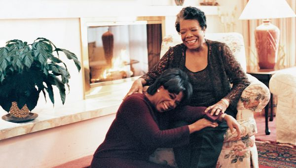 Despite being in different lines of work, Maya Angelou was Oprah's mentor and close friend.