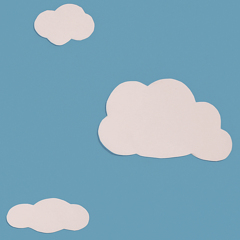 Cloud Detail - These are just three of the 6 clouds that I created for this animation. All are different sizes and shapes.