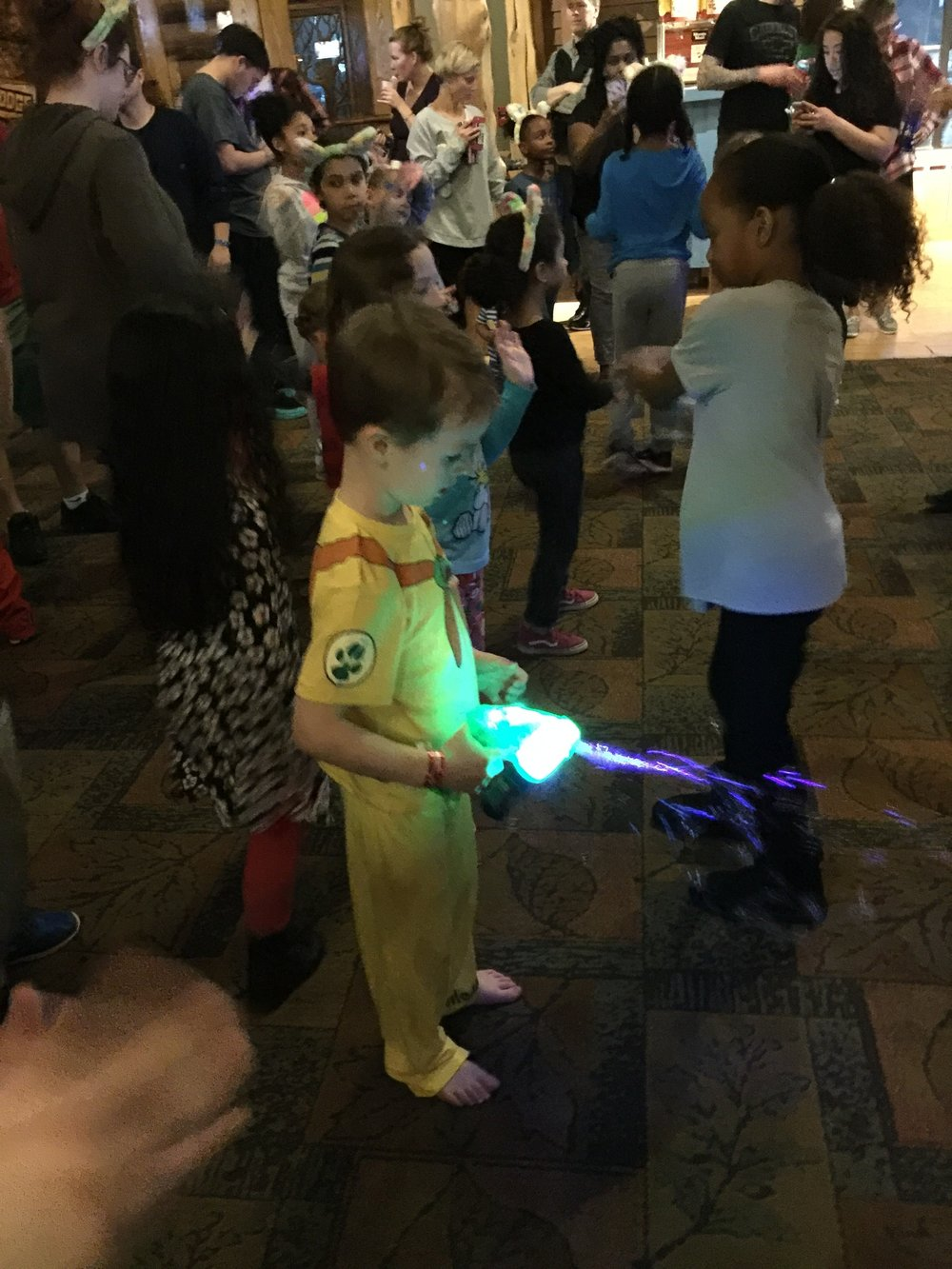 Great Wolf Lodge has all kinds of fun evening activities for children including glow in the dark putt-putt and story time.