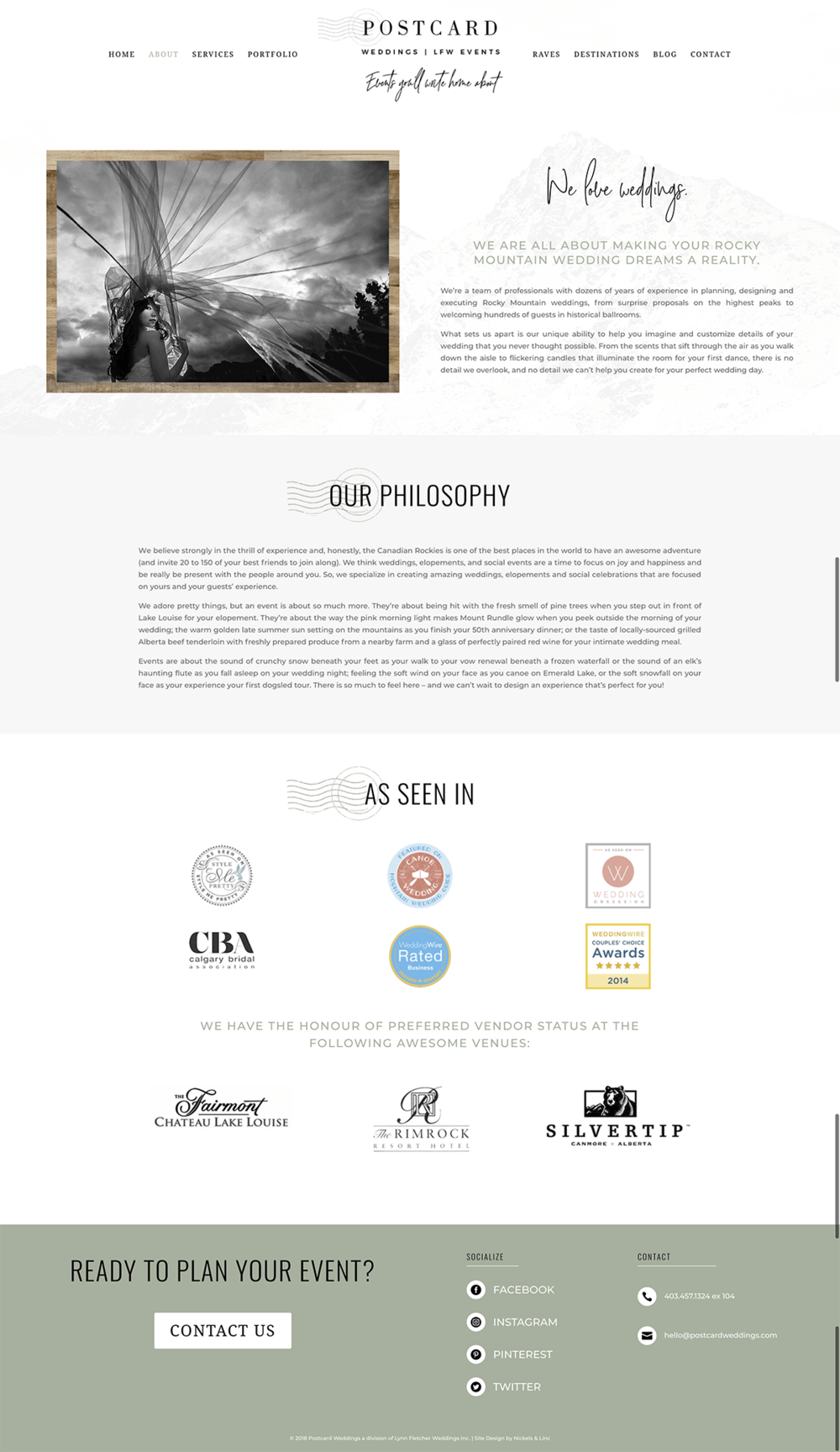 About-page-Postcard Weddings-website-design