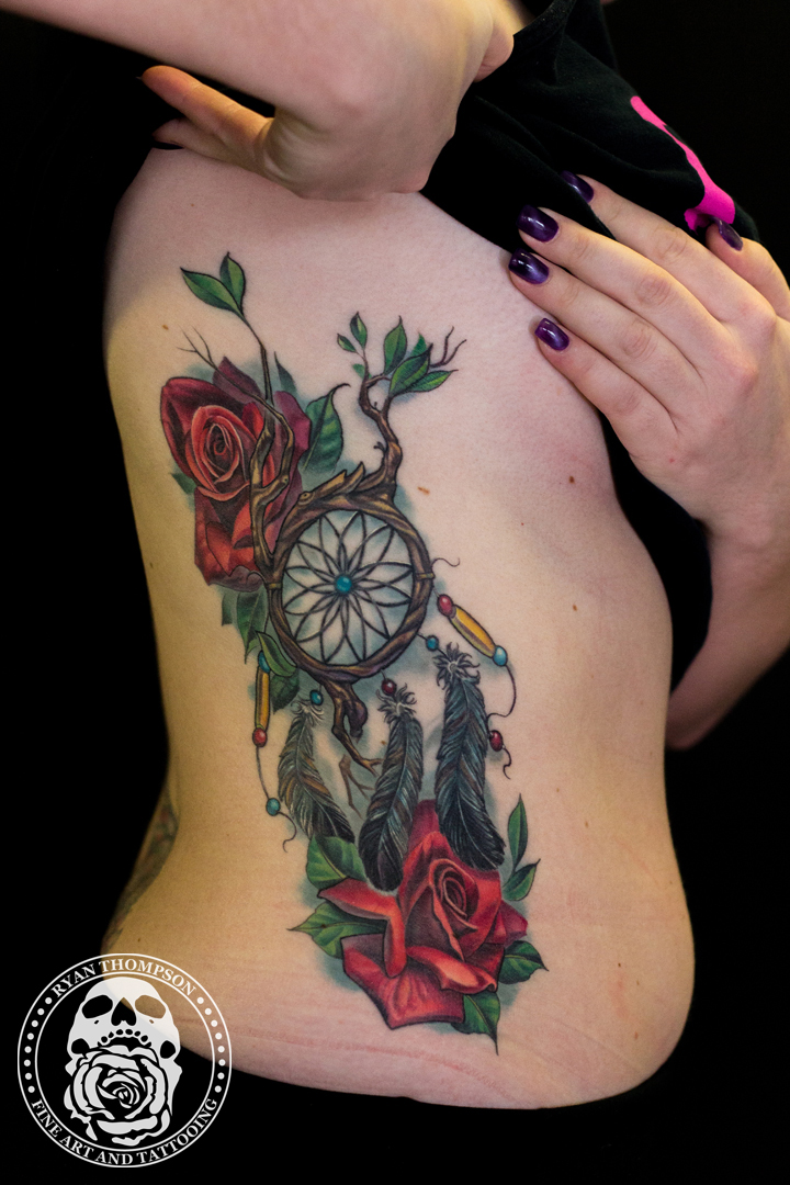 Marisa's Roses and Dreamcatcher Re-work