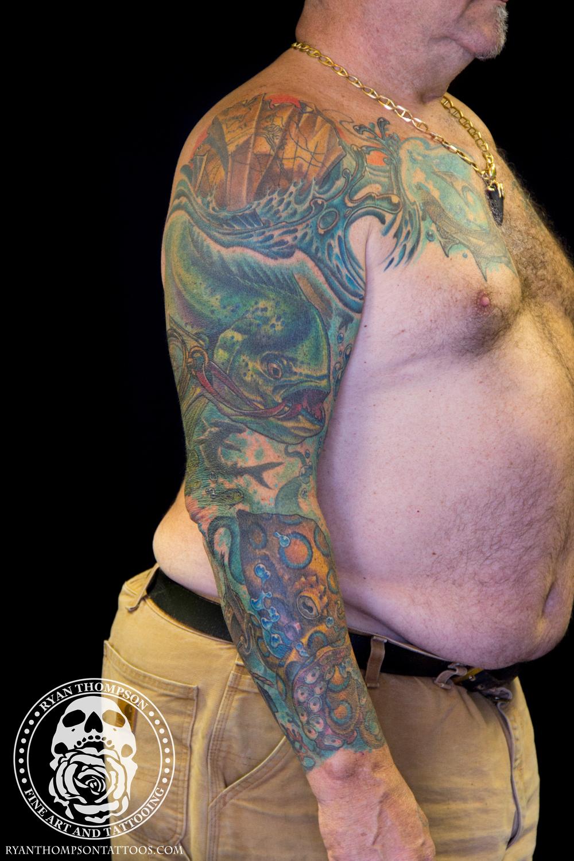 Chuck's Ocean Sleeve Cover-Up