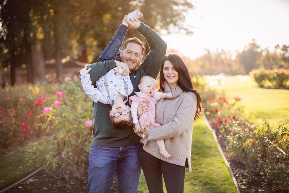 Sarah Lamb and her family.
