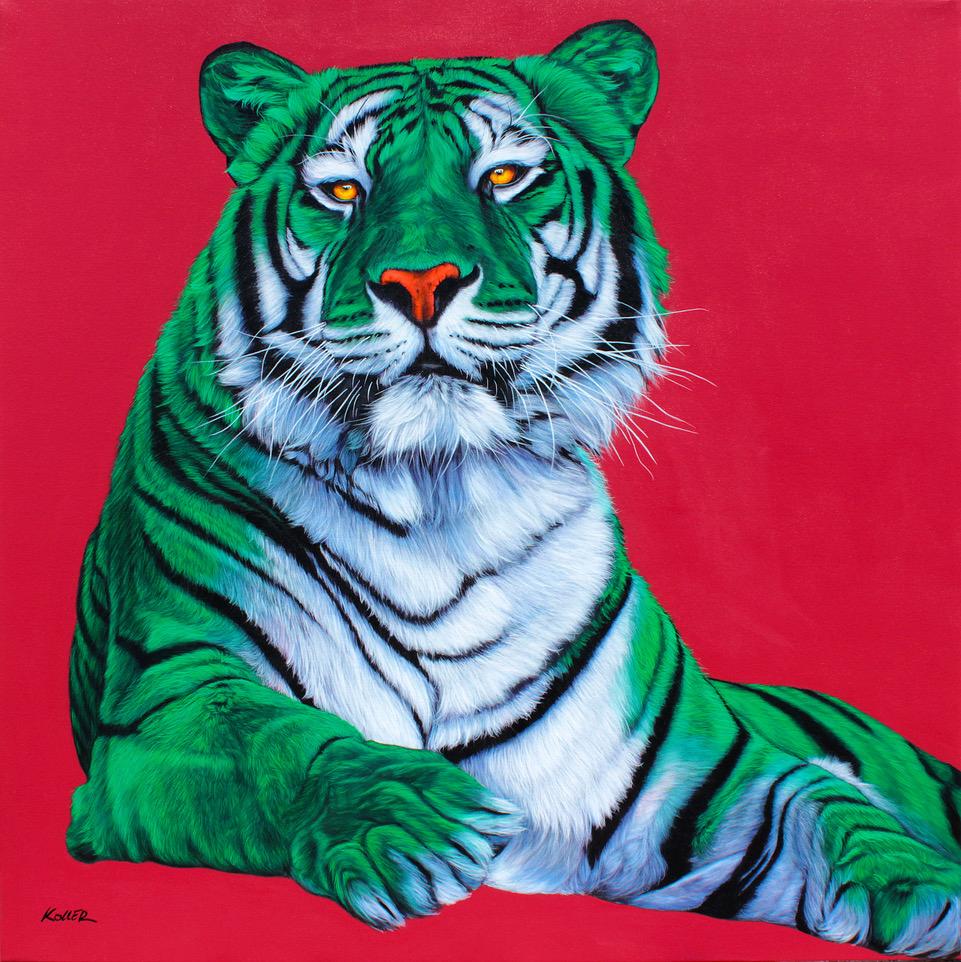 Helmut Koller, Green Tiger on Red
