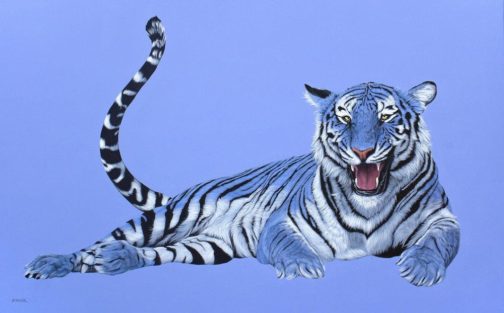 Helmut Koller, Blue Tiger on Blue