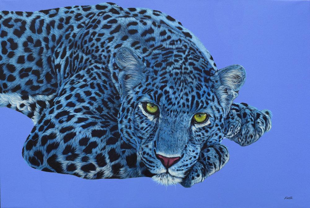 Helmut Koller, Blue Leopard with Yellow Eyes