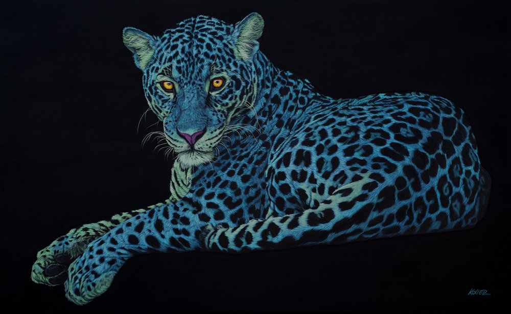 Helmut Koller, Jaguar on Black