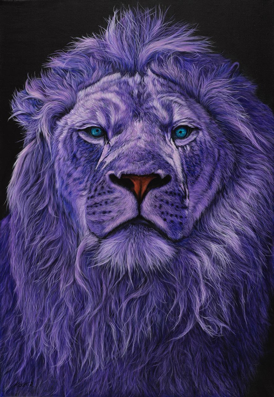 Helmut Koller, Lion Head in Purple