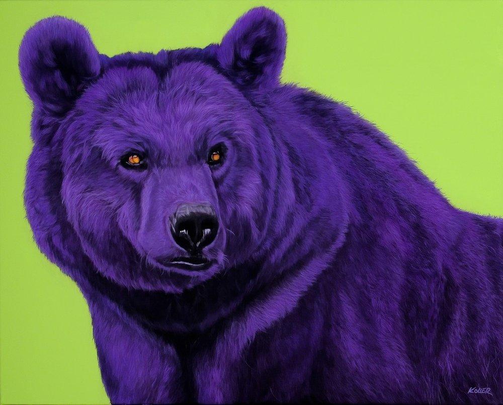 Copy of Helmut Koller, Bear in Purple