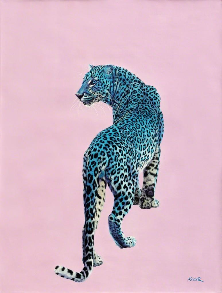 Helmut Koller, Leopard on Pink