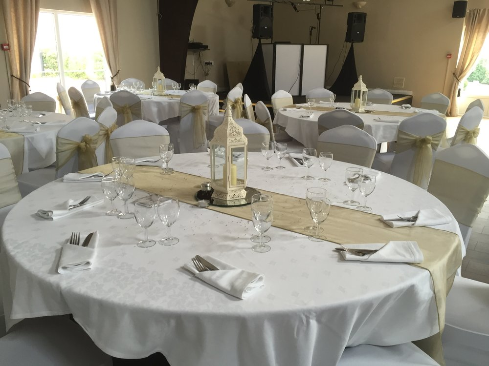 bronze, silver & gold packages - These are our main packages covering all aspects of venue decoration.