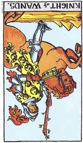 Knight of Wands rx Rider Waite Smith tarot