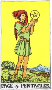 Page of Pentacles Rider Waite Smith deck