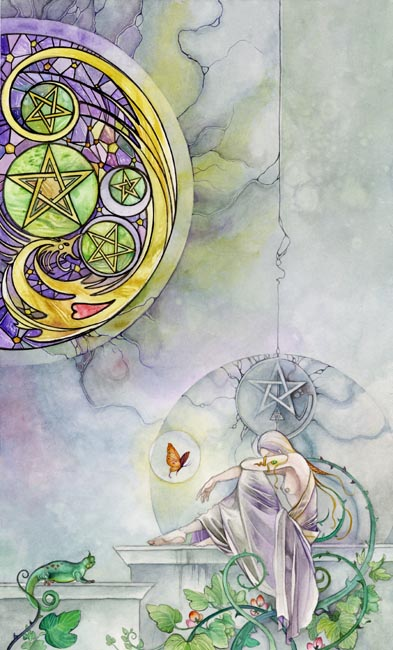 V of Pentacles Shadowscapes Tarot