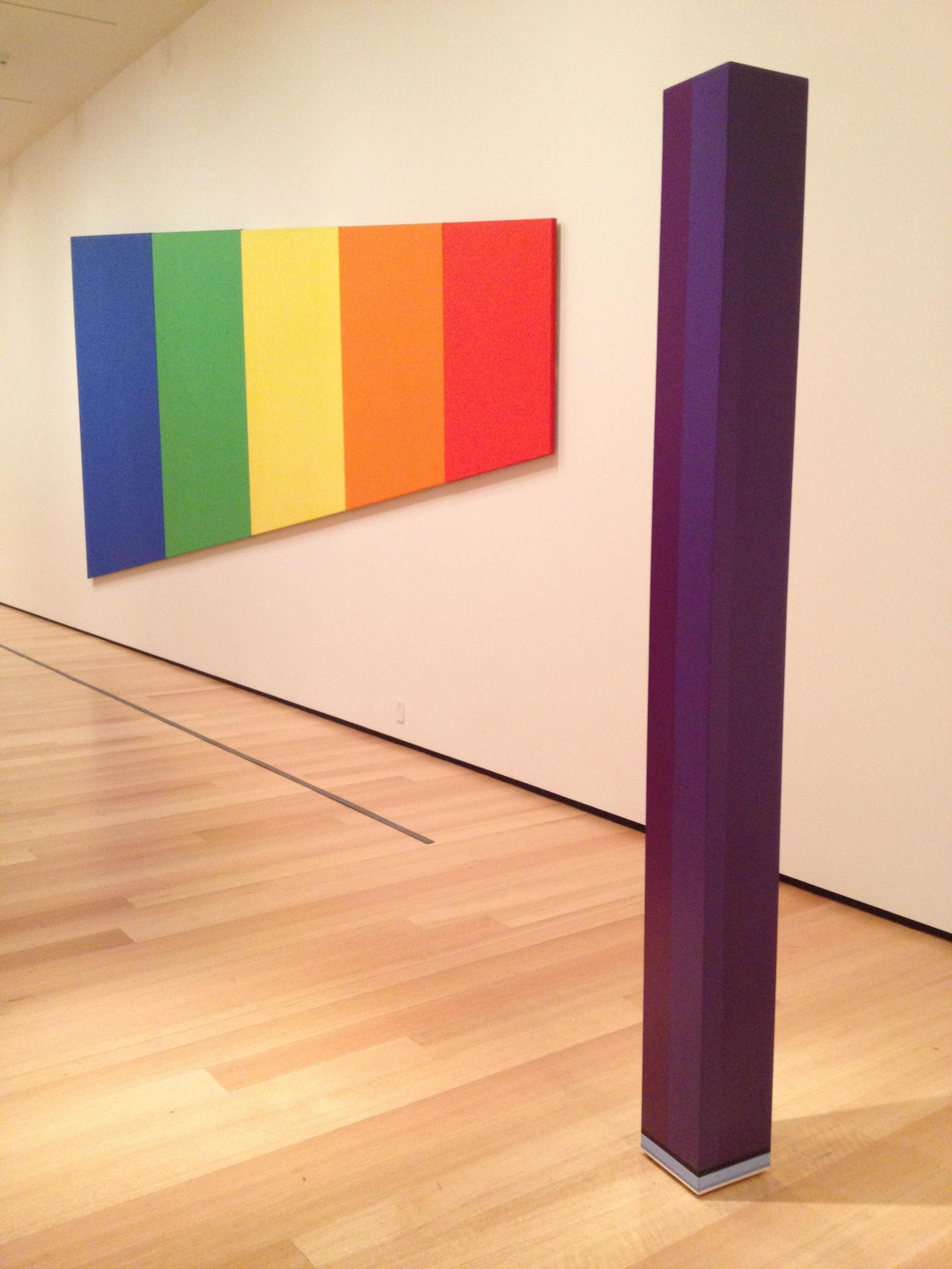 Ellsworth Kelly, Blue Green Yellow Orange Red (Blue panel), 1968