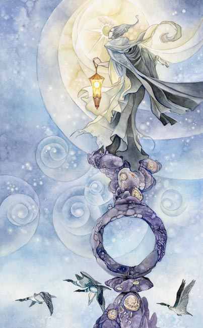 The Hermit Shadowscapes Tarot