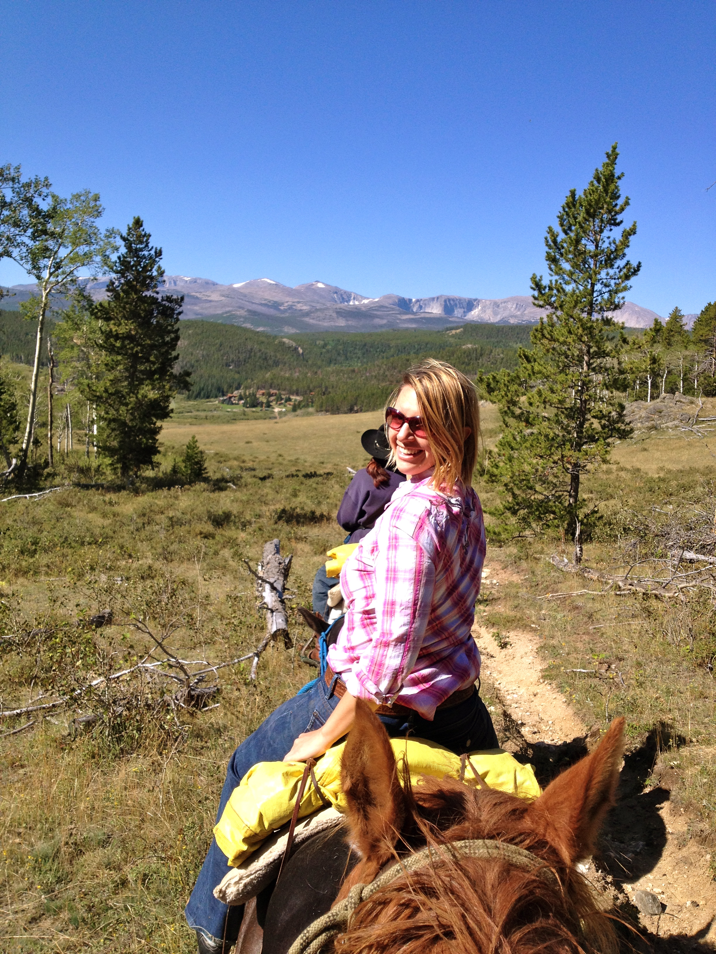 RIding a horse named Charlie in the Big Horn Mountains