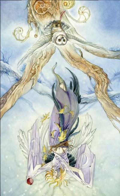High Priestess reversed Shadowscapes Tarot