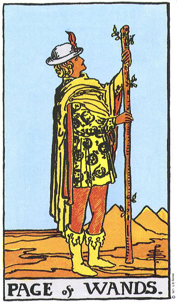 Page of Wands Rider Waite Smith tarot