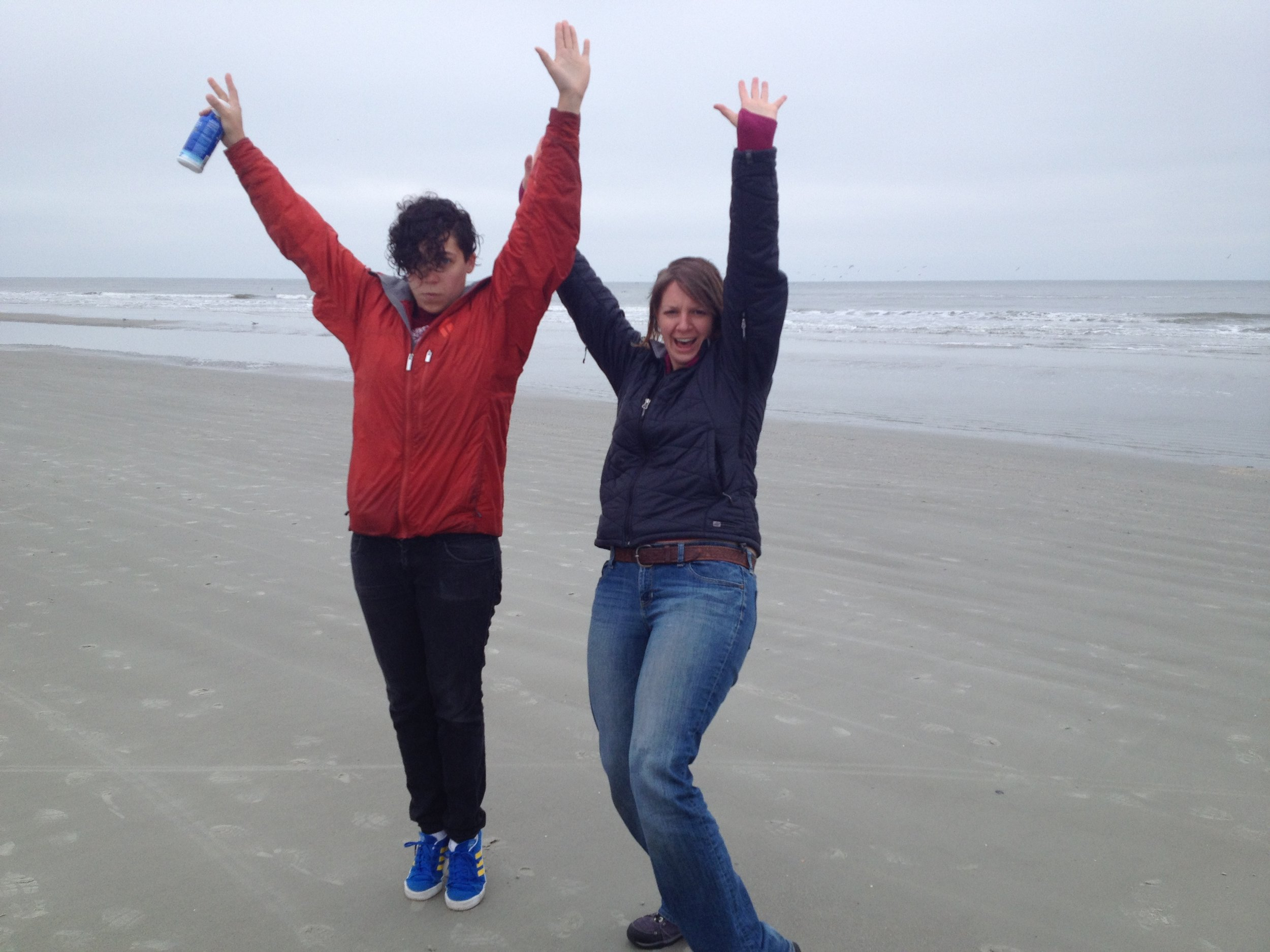 Manifesting our lives on the beach on Hilton Head Island, SC.