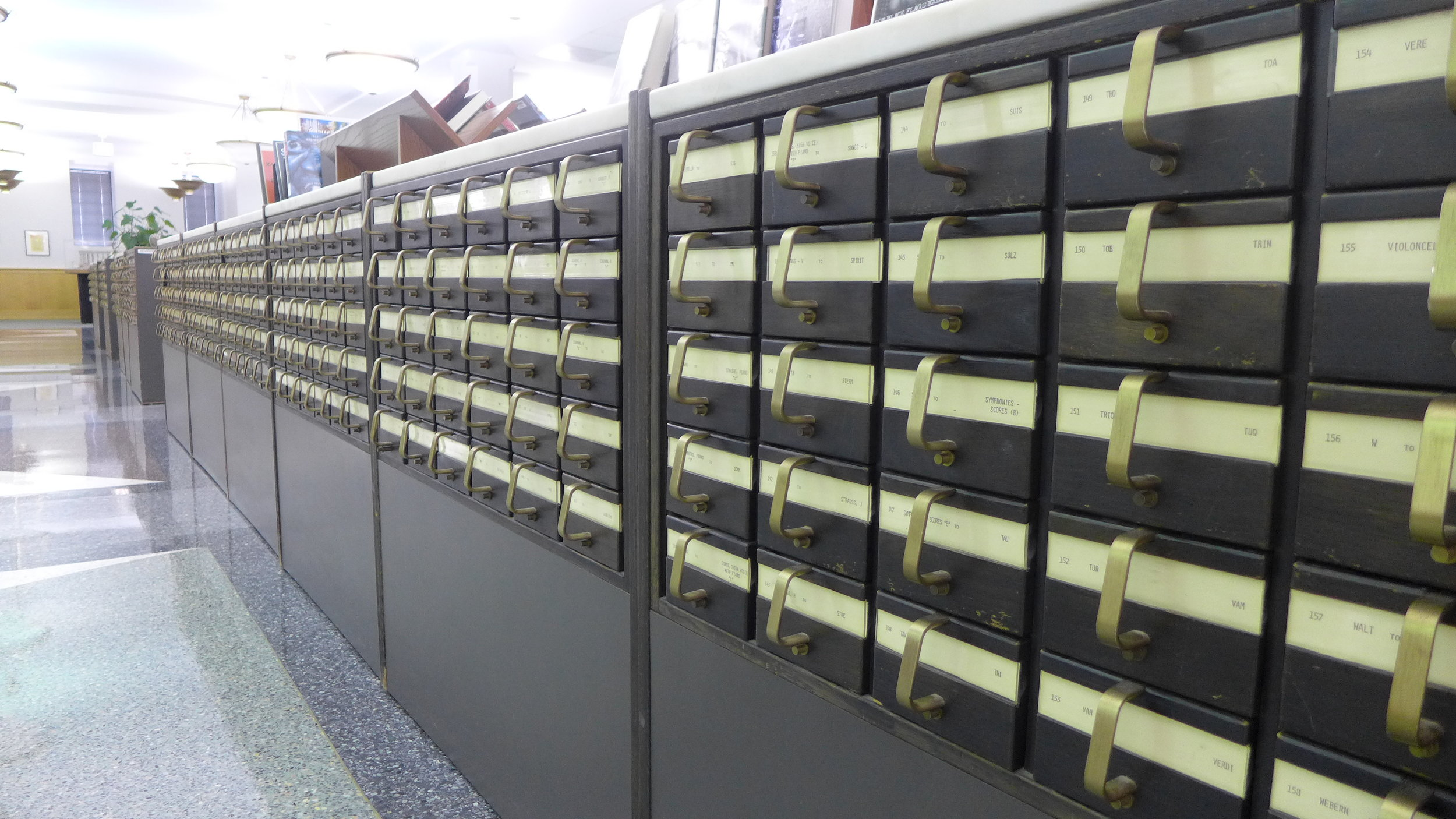 Card catalogs at The Chicago Public Library