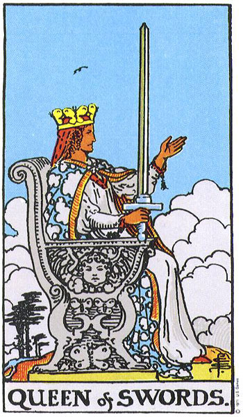 Queen of Swords Rider Waite Smith deck