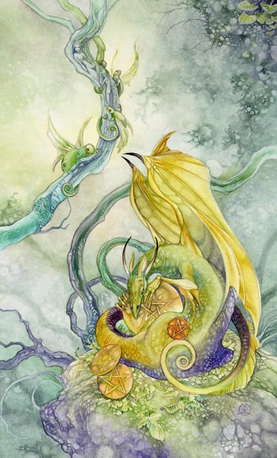 IV of Pentacles Shadowscapes Tarot