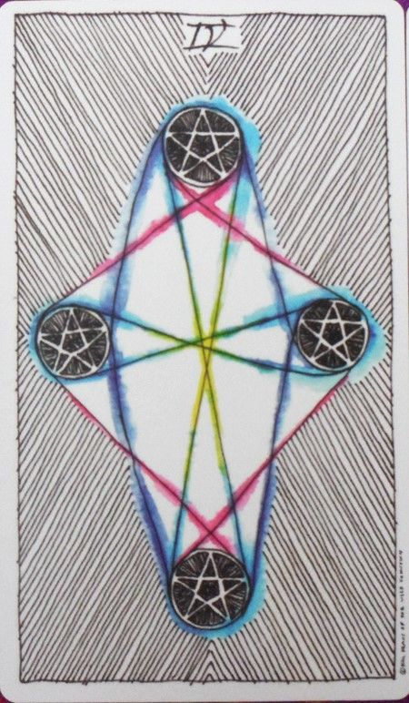 IV of Pentacles Wild Unknown Tarot