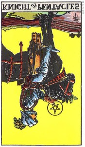 Knight of Pentacles rxed Rider Waite Smith tarot
