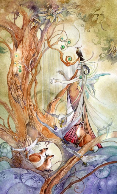 Queen of Wands Shadowscapes Tarot