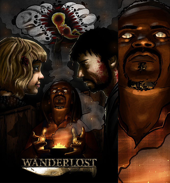 Commissioned poster art for independent film Wanderlost