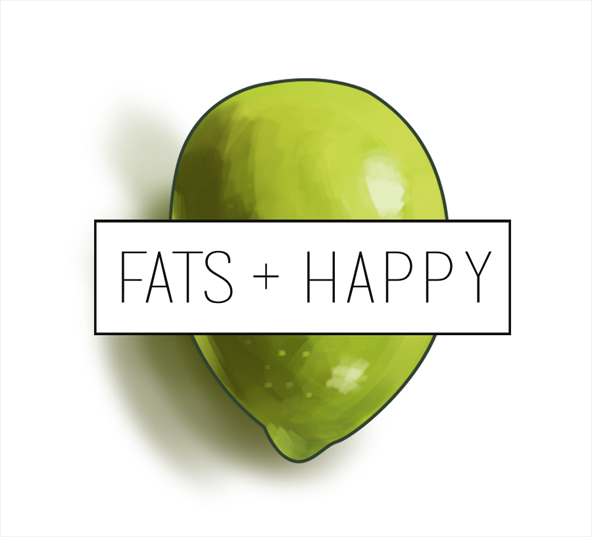 Illustrated logo design for Fats + Happy EVOO