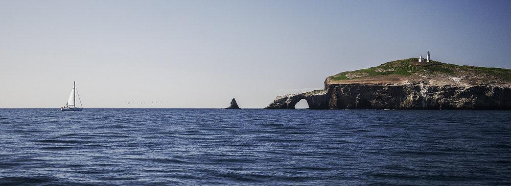 Approaching Anacapa Island, California