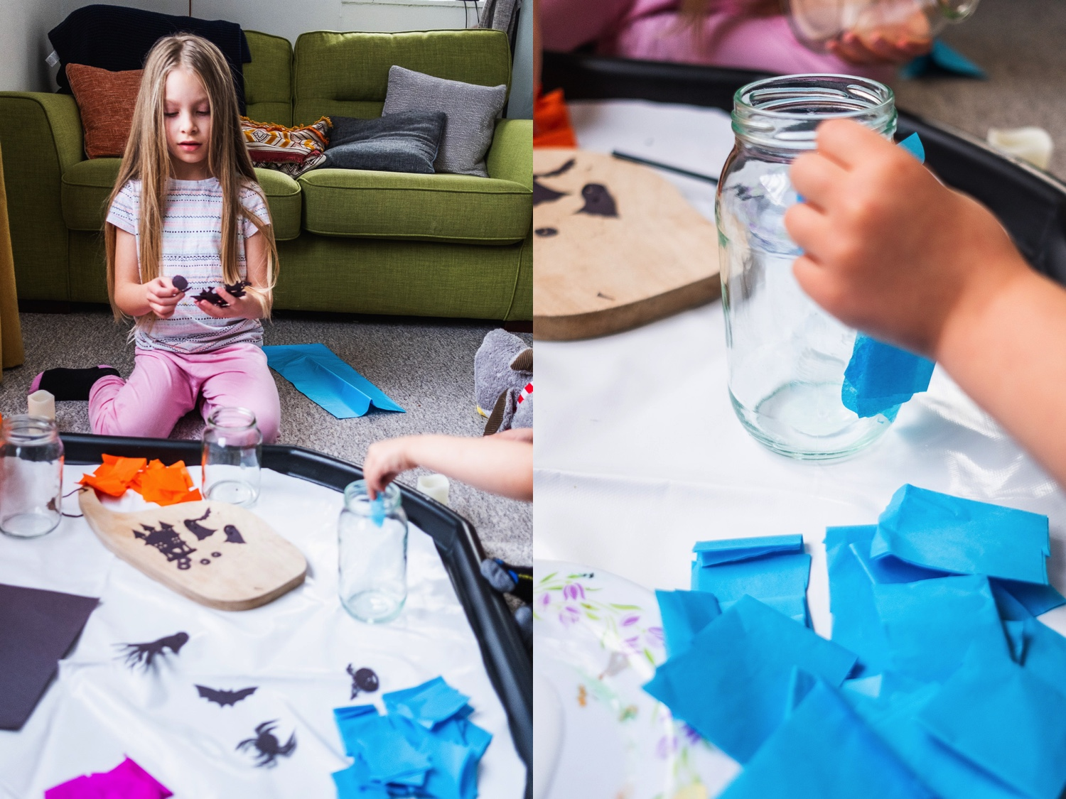 There's no excuses for not making some of these amazing lanterns this Halloween. Quick, cheap but so impressive! www.realfamilyjourney.com #halloween #lanterns #craft #unschool