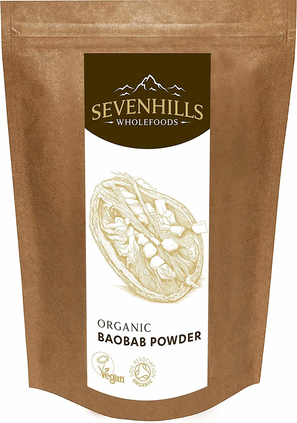 Sevenhills Wholefoods Organic Raw Baobab Powder -
