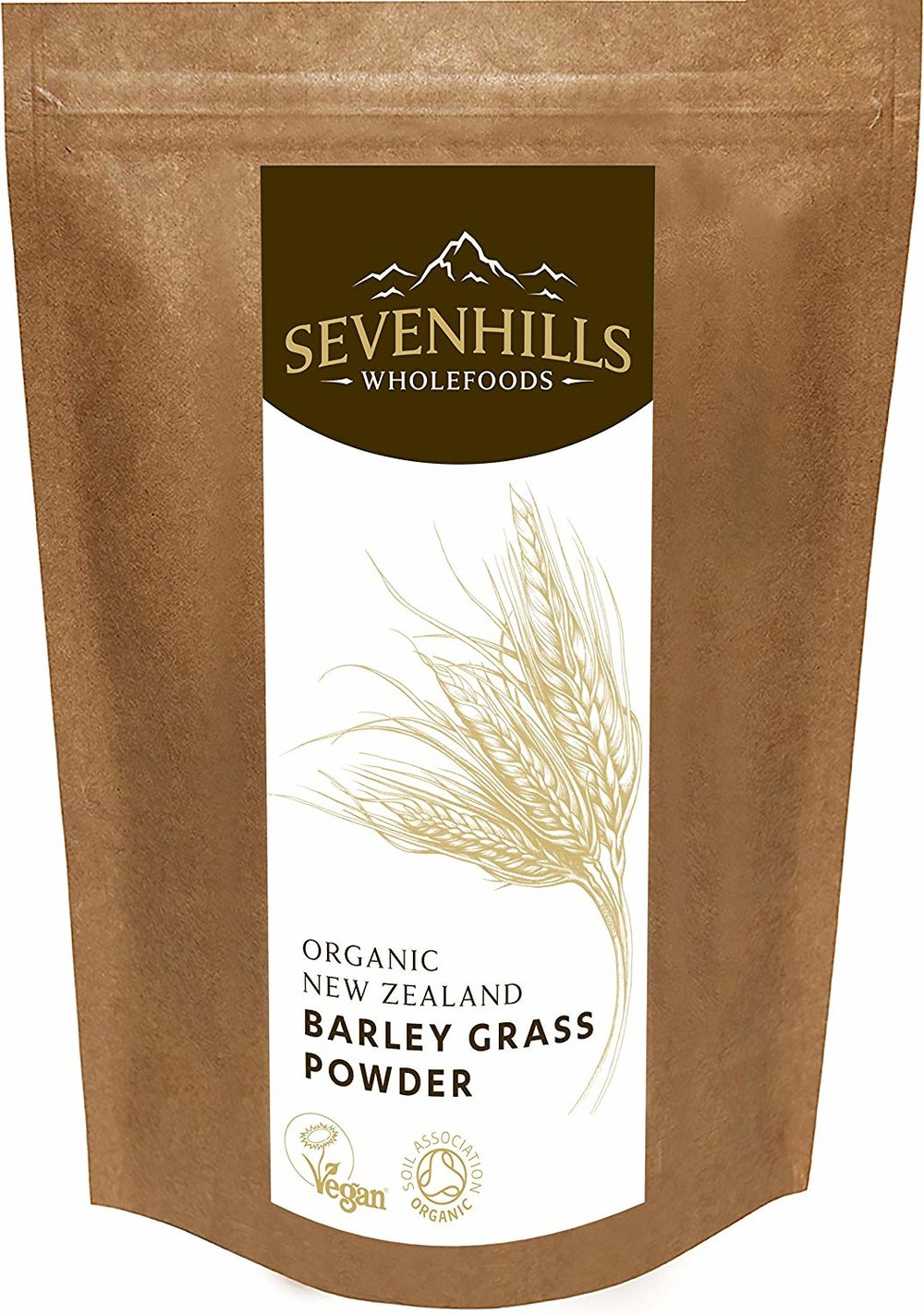 Sevenhills Wholefoods Organic New Zealand Barley Grass Powder -