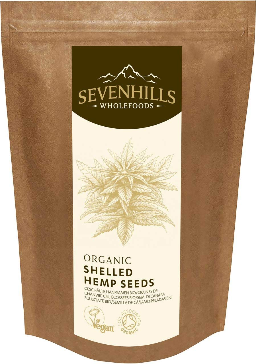 Sevenhills Wholefoods Organic Raw Shelled Hemp Seeds -