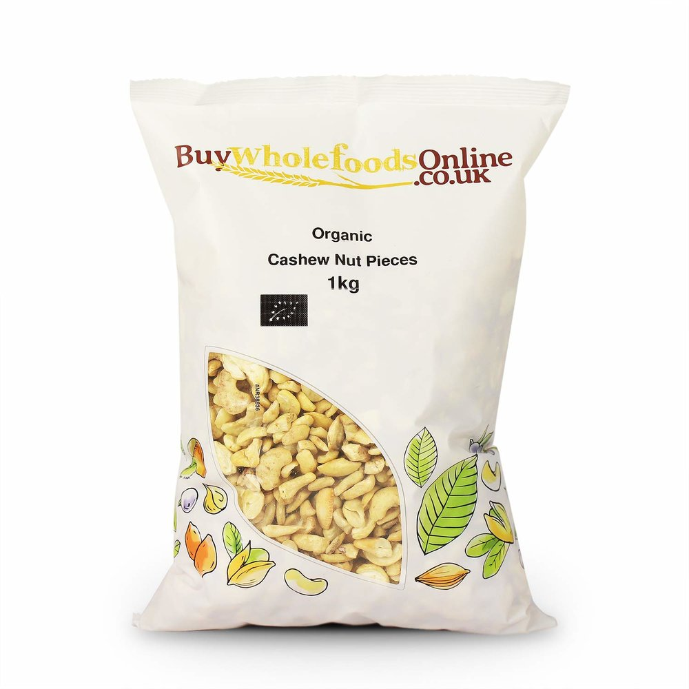 Buy Whole Foods Online Organic Cashew Nut Pieces -