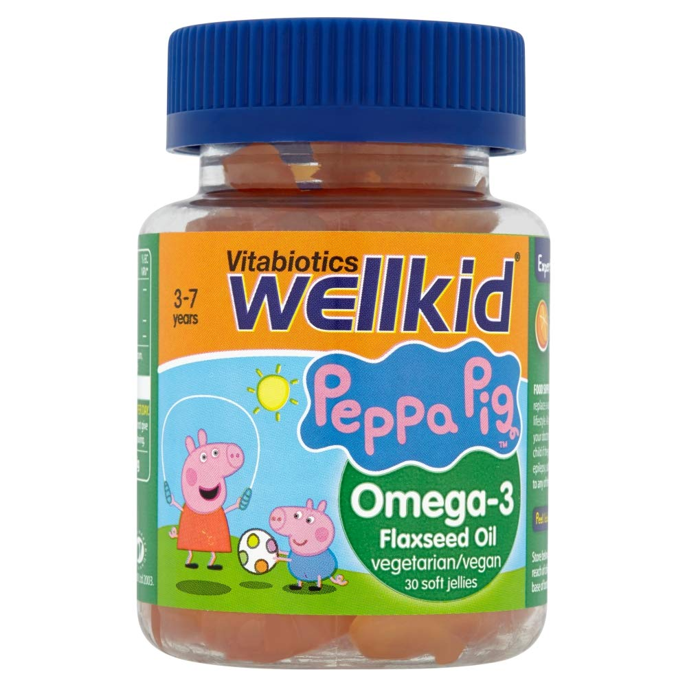 WellKid Vitabiotics Peppa Pig Omega-3 Flaxseed Oil 30 Soft Jellies -