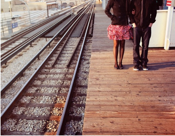 happy couple on train platform - terry klee - national couples counseling expert - love advice