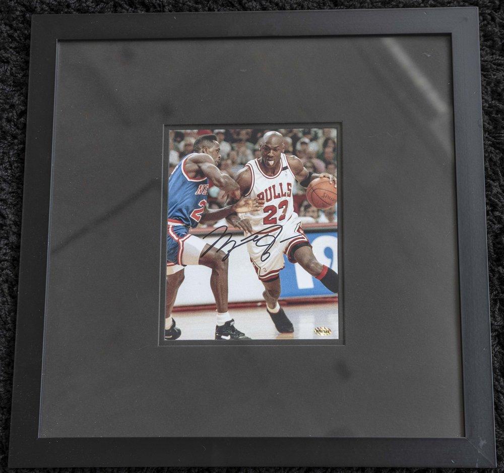 Michael Jordan Signed Framed Photo