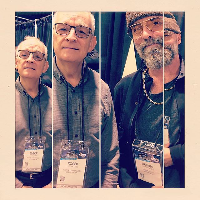 Meeting @roger.linn whilst exploring the @lavoixduluthier instrument at #namm2019 was a real highlight. For those unfamiliar, mr. Linn invented, developed and brought to market one of the most influential drum machines in history.