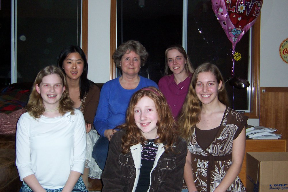 Students with Susan Milan