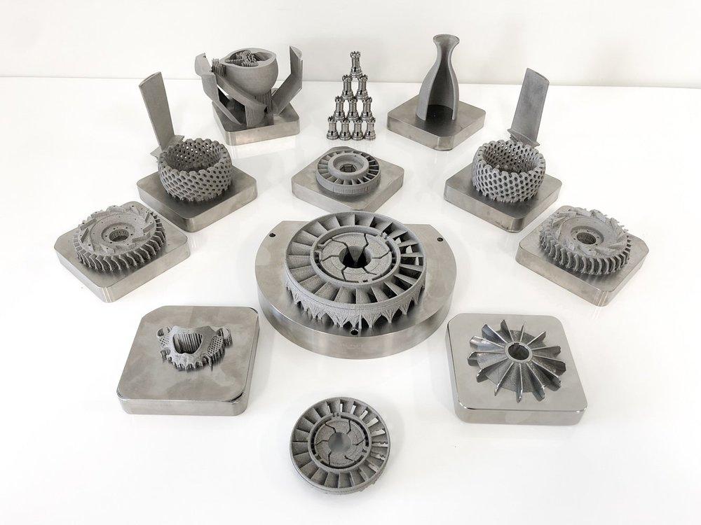 Metal 3D printed samples from Aurora Labs. Image via Aurora Labs